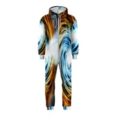 A Blazar Jet In The Middle Galaxy Appear Especially Bright Hooded Jumpsuit (kids)