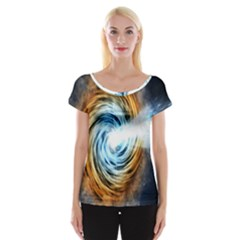 A Blazar Jet In The Middle Galaxy Appear Especially Bright Cap Sleeve Tops