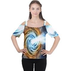 A Blazar Jet In The Middle Galaxy Appear Especially Bright Cutout Shoulder Tee