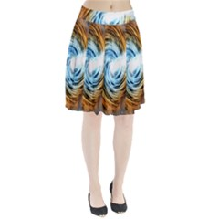 A Blazar Jet In The Middle Galaxy Appear Especially Bright Pleated Skirt