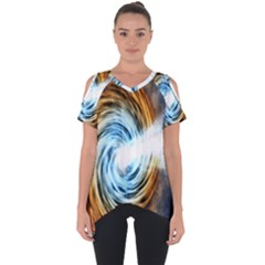 A Blazar Jet In The Middle Galaxy Appear Especially Bright Cut Out Side Drop Tee