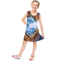 A Blazar Jet In The Middle Galaxy Appear Especially Bright Kids  Tunic Dress