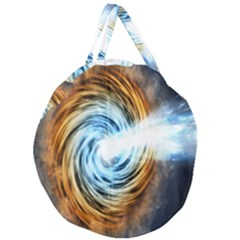 A Blazar Jet In The Middle Galaxy Appear Especially Bright Giant Round Zipper Tote