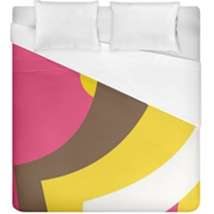 Breast Pink Brown Yellow White Rainbow Duvet Cover (king Size)