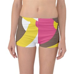 Breast Pink Brown Yellow White Rainbow Reversible Boyleg Bikini Bottoms