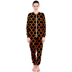 Scales1 Black Marble & Fire Onepiece Jumpsuit (ladies)