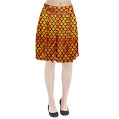 Scales1 Black Marble & Fire (r) Pleated Skirt