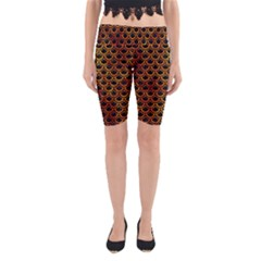 Scales2 Black Marble & Fire Yoga Cropped Leggings