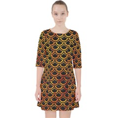 Scales2 Black Marble & Fire Pocket Dress