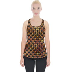 Scales2 Black Marble & Fire Piece Up Tank Top