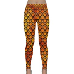 Scales2 Black Marble & Fire (r) Classic Yoga Leggings
