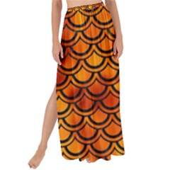 Scales2 Black Marble & Fire (r) Maxi Chiffon Tie Up Sarong