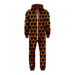 Scales3 Black Marble & Fire Hooded Jumpsuit (kids)