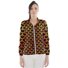 Scales3 Black Marble & Fire Wind Breaker (women)