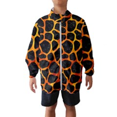 Skin1 Black Marble & Fire (r) Wind Breaker (kids)