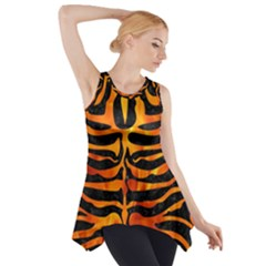 Skin2 Black Marble & Fire Side Drop Tank Tunic