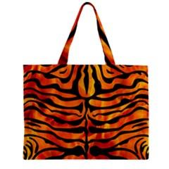 Skin2 Black Marble & Fire (r) Zipper Mini Tote Bag