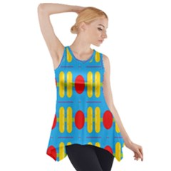 Ovals And Stripes Pattern                            Side Drop Tank Tunic