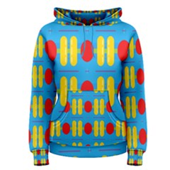Ovals And Stripes Pattern                            Women s Pullover Hoodie