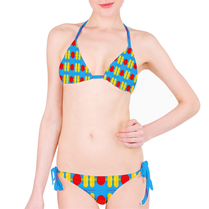 Ovals and stripes pattern                            Bikini set