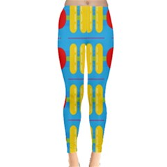 Ovals And Stripes Pattern                            Leggings