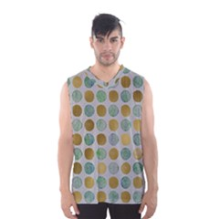 Green And Golden Dots Pattern                            Men s Basketball Tank Top