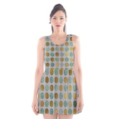 Green And Golden Dots Pattern                       Scoop Neck Skater Dress