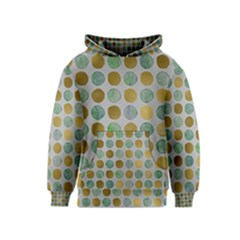 Green And Golden Dots Pattern                            Kid s Pullover Hoodie