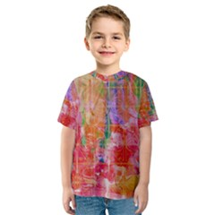 Colorful Watercolors Pattern                            Kid s Sport Mesh Tee