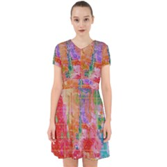 Colorful Watercolors Pattern                              Adorable In Chiffon Dress