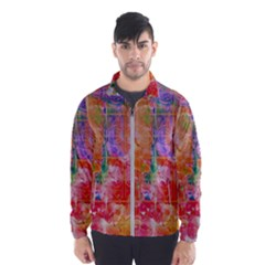 Colorful Watercolors Pattern                            Wind Breaker (men)