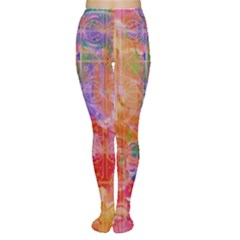 Colorful Watercolors Pattern                            Tights