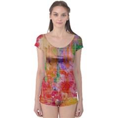 Colorful Watercolors Pattern                            Boyleg Leotard (ladies)