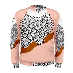 Animals Bird Owl Pink Polka Dots Men s Sweatshirt