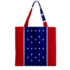 British American Flag Red Blue Star Zipper Grocery Tote Bag