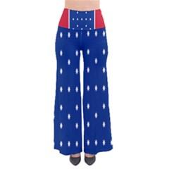 British American Flag Red Blue Star Pants
