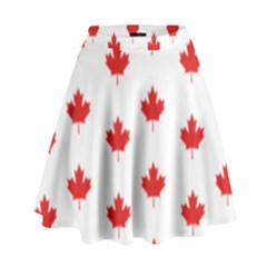 Canadian Maple Leaf Pattern High Waist Skirt
