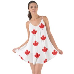 Canadian Maple Leaf Pattern Love The Sun Cover Up