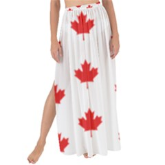 Canadian Maple Leaf Pattern Maxi Chiffon Tie Up Sarong
