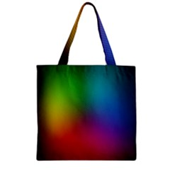 Bright Lines Resolution Image Wallpaper Rainbow Zipper Grocery Tote Bag