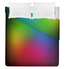 Bright Lines Resolution Image Wallpaper Rainbow Duvet Cover Double Side (queen Size)