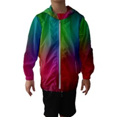 Bright Lines Resolution Image Wallpaper Rainbow Hooded Wind Breaker (kids)