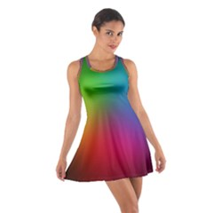 Bright Lines Resolution Image Wallpaper Rainbow Cotton Racerback Dress