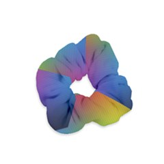 Bright Lines Resolution Image Wallpaper Rainbow Velvet Scrunchie