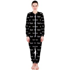 Beauty Moments Phrase Pattern Onepiece Jumpsuit (ladies)