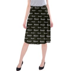 Beauty Moments Phrase Pattern Midi Beach Skirt