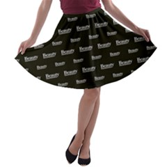 Beauty Moments Phrase Pattern A Line Skater Skirt