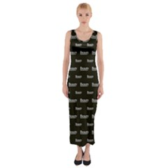 Beauty Moments Phrase Pattern Fitted Maxi Dress