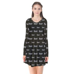 Beauty Moments Phrase Pattern Flare Dress