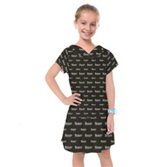 Beauty Moments Phrase Pattern Kids  Drop Waist Dress